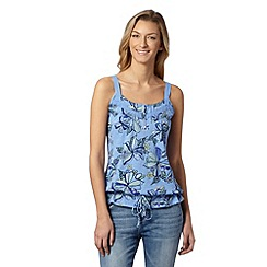 Mantaray - Light blue floral tie cami vest