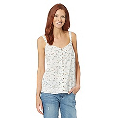 Mantaray - White bird print cami