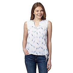 Mantaray - White toucan shell top