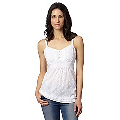 Mantaray - White floral lace cami top
