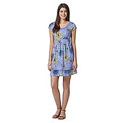 Mantaray - Light blue floral print dress