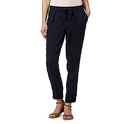 Mantaray - Soft navy tencel trouser