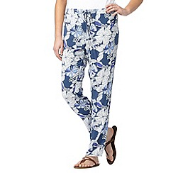 Mantaray - Dark blue sketchy floral trousers