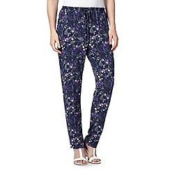 Mantaray - Navy floral jersey trousers