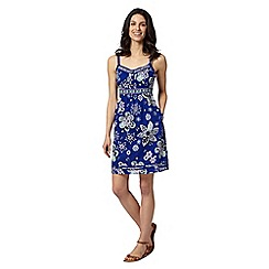 Mantaray - Dark blue floral pocket dress