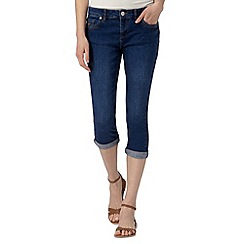 Mantaray - Blue denim cropped trousers