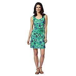 Mantaray - Green belted floral dress