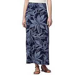 Mantaray - Navy lilly jersey maxi skirt