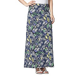 Mantaray - Navy bold floral print maxi skirt