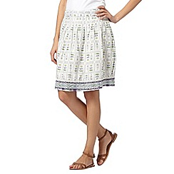 Mantaray - White garden scene skirt
