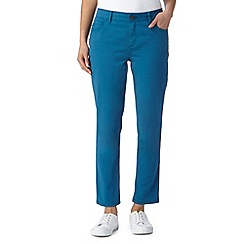 Mantaray - Turquoise cropped denim trousers