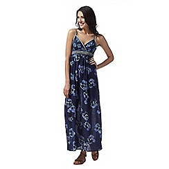 Mantaray - Dark blue floral print maxi dress