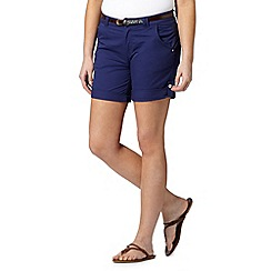 Mantaray - Dark blue belted chino shorts