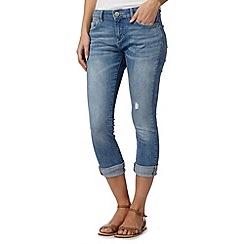 Mantaray - Light blue denim cropped jeans