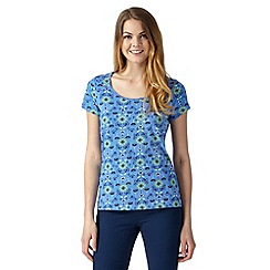 Mantaray - Blue oriental floral print t-shirt