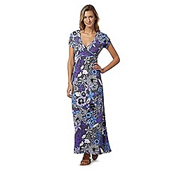 Mantaray - Purple floral self tie maxi dress