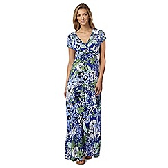 Mantaray - Navy floral self tie maxi dress
