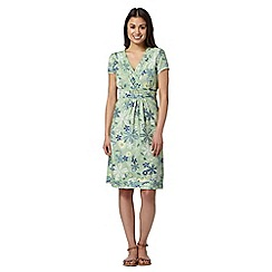 Mantaray - Green mixed flower print dress