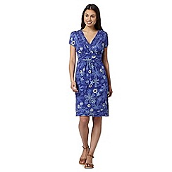 Mantaray - Navy mixed flower print dress