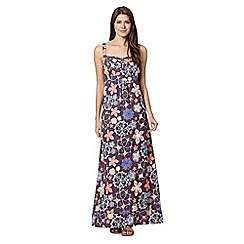 Mantaray - Grey embroidered flower print maxi dress