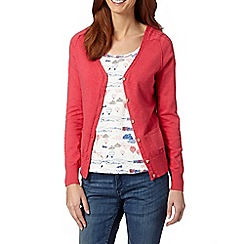 Mantaray - Dark pink cable trim cardigan