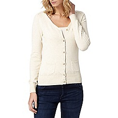 Mantaray - Natural V neck cardigan