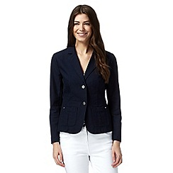 Mantaray - Navy single breasted cotton blazer