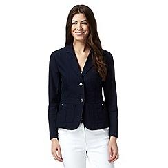 Mantaray - Navy single breasted cotton blazer