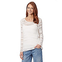 Mantaray - White crochet jumper
