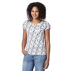 Mantaray - White smudgy spot short sleeved top