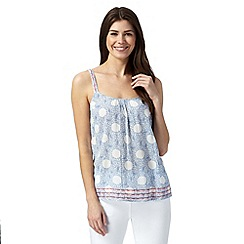 Mantaray - White circle bird print cami