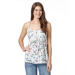 Mantaray - White bird print camisole