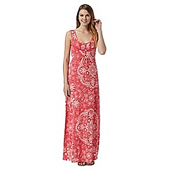 Mantaray - Dark pink floral maxi dress