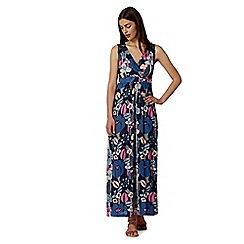 Mantaray - Navy floral embroidery back maxi dress