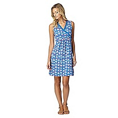 Mantaray - Blue floral print wrap front dress