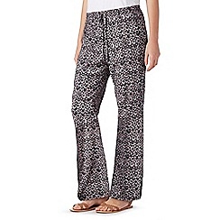 Mantaray - Black spotted wide leg trousers