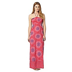 Mantaray - Dark pink bandeau floral maxi dress