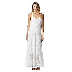 Mantaray - White lace maxi dress