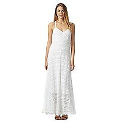 Mantaray - White lace maxi dress