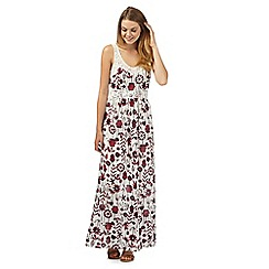Mantaray - White floral crochet maxi dress