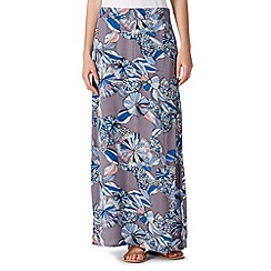 Mantaray - Grey floral woven maxi skirt
