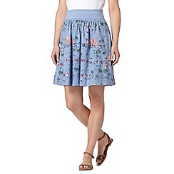 Mantaray - Blue beach scene woven skirt