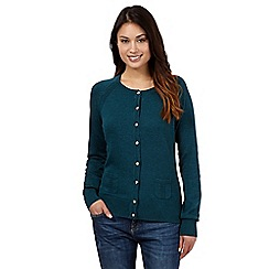 Mantaray - Dark green crew neck cardigan