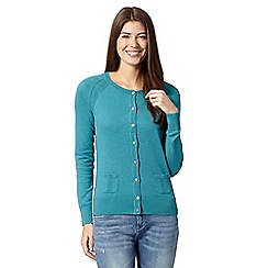 Mantaray - Turquoise crew neck cardigan