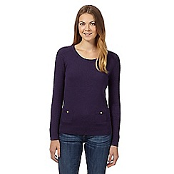 Mantaray - Plum cable sleeve jumper