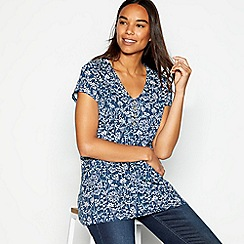 Mantaray - Navy tree print shirt