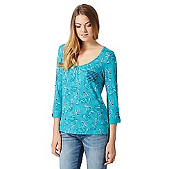 Mantaray - Turquoise mermaid print top