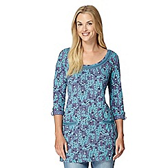 Mantaray - Purple daisy chain print tunic