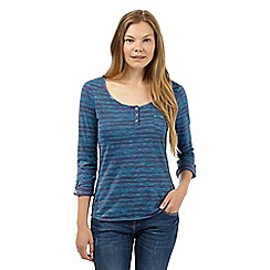Mantaray - Blue painted stripe top