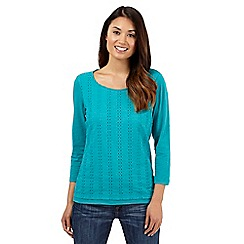 Mantaray - Aqua broderie panel top